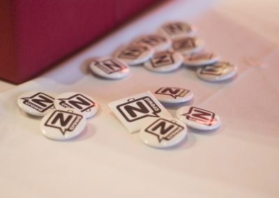 Take a free N Crowd button! Image credit: Katie Reing