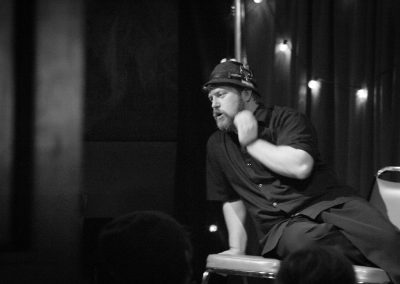 "BJ Reclines during ""Instant Soap Opera."" Photo by Laura Rachfalski."